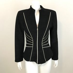 Cache Fitted Black and Silver Metallic Jacket S